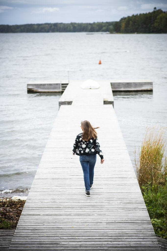 Eija Korjula Kallahdenniemessä